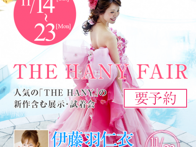 11/14(土)~23(月) THE HANY FAIR(終了)